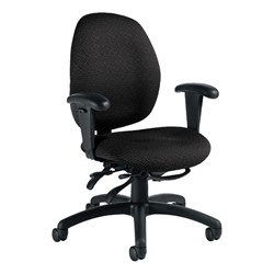 Malaga Chair - Low Back - Sprinkle-Black