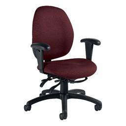 Malaga Desk Chair - Low-Back - Sprinkle-Cabarnet