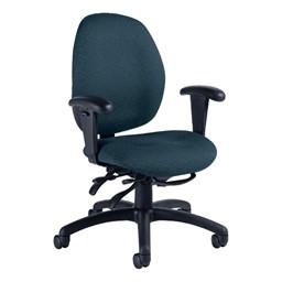 Malaga Desk Chair - Low Back - Sprinkle-Sapphire