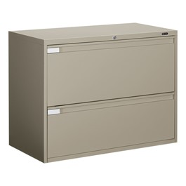 Global Lateral File Cabinet w/ Two Drawers