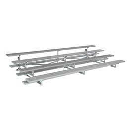 Low-Rise Four-Tier Bleachers w/ Tip & Roll Wheels