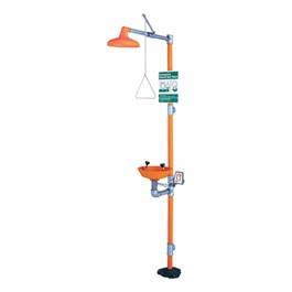 Safety Station Shower w/ Eye Wash – Plastic Bowl