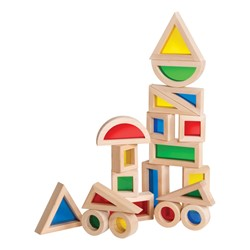 Jr. Rainbow Blocks - 20 Pieces