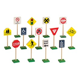 Block Play Traffic Signs - Set of 13