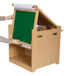 Desk-to-Easel Art Cart - Chalkboard shown - Accessories not included