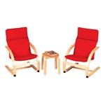 Kiddie Rocker Table & Chairs Set - Red