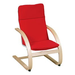 "Nordic Arm Chair - 14"" Seat Height - Red"