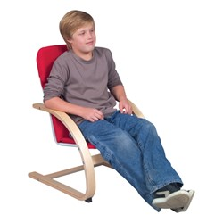 """Nordic Rocker Chair - 14"""" Seat Height - Red"""