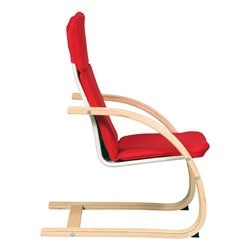 """Nordic Rocker Chair - 14"""" Seat Height - Red - Side shown"""