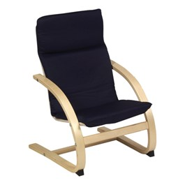 "Nordic Arm Chair - 14"" Seat Height - Blue"
