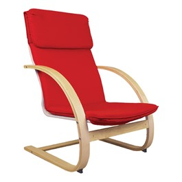 """Teacher\'s Arm Chair - 16 1/2\"""" Seat Height - Red"""