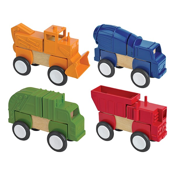 Block Mates Vehicles - Construction Vehicles