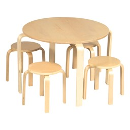 Nordic Table & Chairs Set - Natural