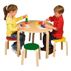 Nordic Table & Chairs Set - Assorted Colors - Accessories not included