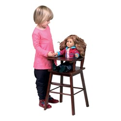 Doll High Chair - Espresso - Doll not included