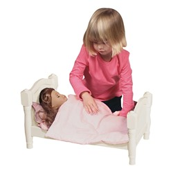 Doll Bed - White - Doll not included
