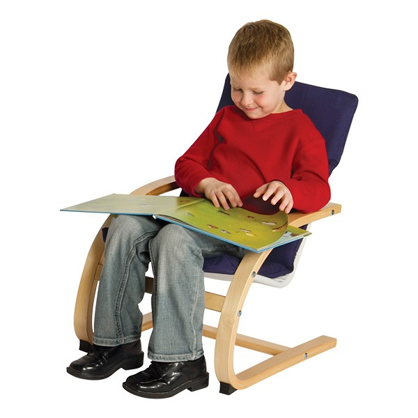 "Kiddie Arm Chair - 10"" Seat Height - Blue"