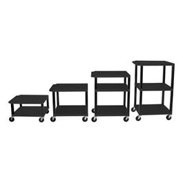 Adjustable-Height Tuffy Cart w/ Black Shelves