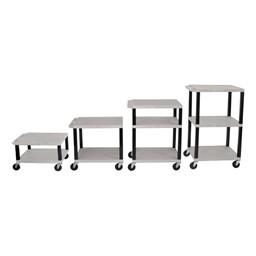 Adjustable-Height Tuffy Cart w/ Gray Shelves
