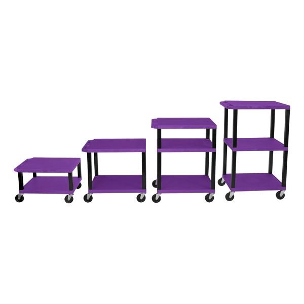 Adjustable-Height Tuffy Cart w/ Purple Shelves