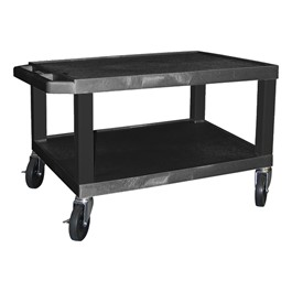 "Colorful Tuffy Utility Cart (15 1/2"" H) - Black"