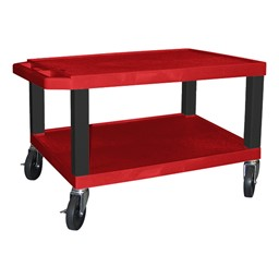 """Colorful Tuffy Utility Cart (15 1/2"""" H) - Red"""