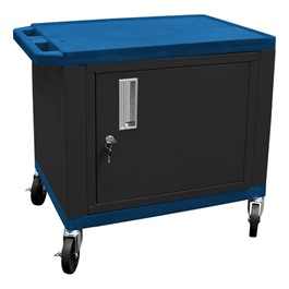 """Colorful Tuffy Utility Cart w/ Cabinet (24 1/2\"""" H) - Blue"""