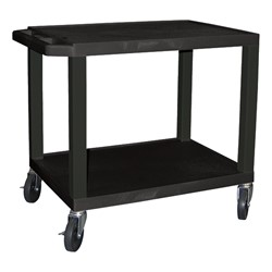 "Colorful Tuffy Utility Cart (24 1/2"" H) - Black"