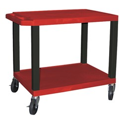 "Colorful Tuffy Utility Cart (24 1/2"" H) - Red"