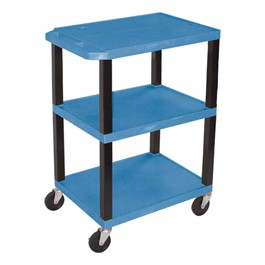 Colorful Plastic Utility Cart - Blue