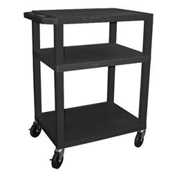 "Colorful Tuffy Utility Cart (34"" H) - Black"