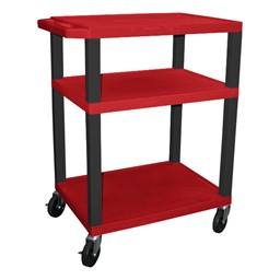 "Colorful Tuffy Utility Cart (34"" H) - Red"
