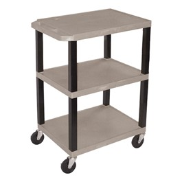 Colorful Plastic Utility Cart - Gray