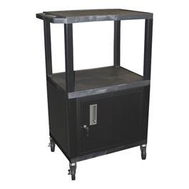 "Tuffy Cart w/ Cabinet - Black w/ Black Shelves (42 1/2\"" H)"