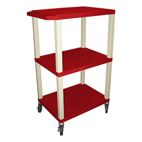 "Colorful Tuffy Utility Cart (42 1/2"" H) - Red"