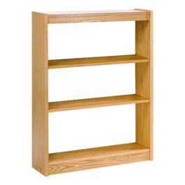 """Mohawk Series Single-Sided Wooden Book Shelving - Starter Unit<br>Shown in 42\"""" H"""