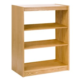 """Mohawk Series Double-Sided Wooden Book Shelving - Starter Unit<br>Shown in 42\"""" H"""
