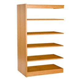 Mohawk Series Double-Sided Wooden Book Shelving - Adder Unit