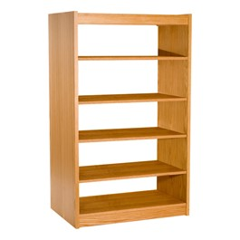 Mohawk Series Double-Sided Wooden Book Shelving - Starter Unit