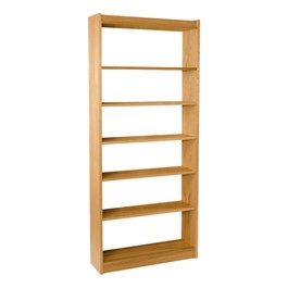 """Mohawk Series Single-Sided Wooden Book Shelving - Starter Unit<br>Shown in 84\"""" H"""