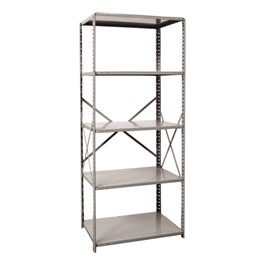 Extra Heavy-Duty Open Shelving Starter Unit w/ 5 Shelves