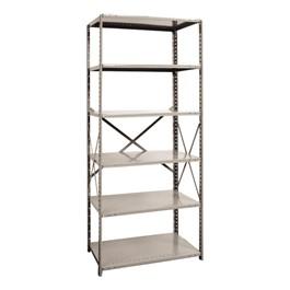 Medium-Duty Open Shelving Starter Unit w/ 6 Shelves