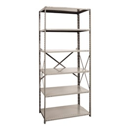 Extra Heavy-Duty Open Shelving Starter Unit w/ 6 Shelves