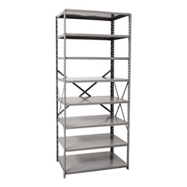 Heavy-Duty Open Shelving Starter Unit w/ 8 Shelves