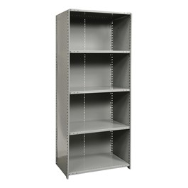 Medium-Duty Closed Shelving Starter Unit w/ 5 Shelves