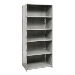 Medium-Duty Closed Shelving Starter Unit w/ 6 Shelves