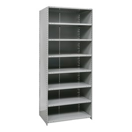 Heavy-Duty Closed Shelving Starter Unit w/ 8 Shelves