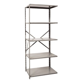 Extra Heavy-Duty Open Shelving Adder Unit w/ 5 Shelves