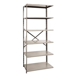 Medium-Duty Open Shelving Adder Unit w/ 6 Shelves