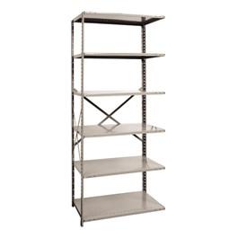 Extra Heavy-Duty Open Shelving Adder Unit w/ 6 Shelves